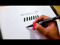 Brush Calligraphy | How to hold your brush pen at an angle - YouTube