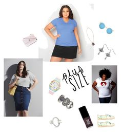 """""""Plus Size..**"""" by yagna ❤ liked on Polyvore featuring Avenue, Kate Spade, JINsoon, Chanel, Maison Margiela, Illesteva, Etro, Nada Le Cavelier, River Island and vintage"""