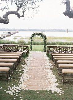 A petal strewn aisle: http://www.stylemepretty.com/2015/07/29/30-details-for-an-organic-naturally-elegant-wedding/: