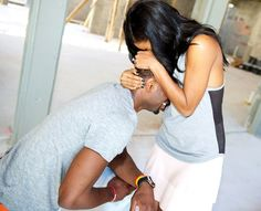 Love is... popping the question. Actress Gabrielle Union got engaged to NBA player Dwyane Wade on Dec. 21 in Miami