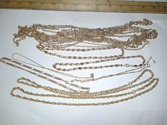 Jewelry vintage necklace lot jewelry chain lots by TigersPlace, $12.00