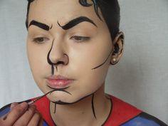 pop art makeup male - Google Search