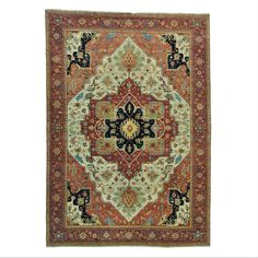 Antiqued Heriz Recreation Pure Handmade Rug