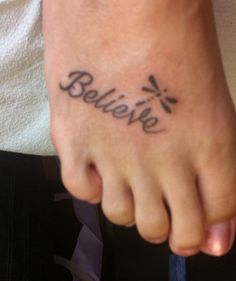 tattoo to help me remember to believe
