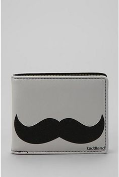 Toddland Manstache Wallet $24.00 Urban Outfitters