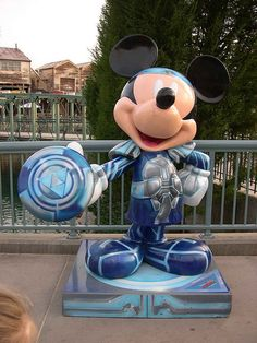 """""""TRON Mickey"""" by Syd Mead.  Celebrate Mickey:  75 years of Mickey InspEARations.  At Disney California Adventure 2005."""