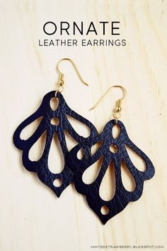 MINTED STRAWBERRY: Make these ornate leather earrings easily with the Silhouette! Free cut file included. @silhouettepins #jewelry #accessory #earrings