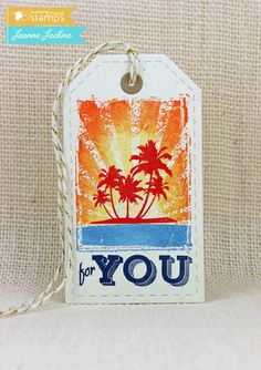Tropical Tag by akeptlife - Cards and Paper Crafts at Splitcoaststampers Atc, Bookmarks, Summer Time, About Me Blog, Paper Crafts, Tapestry, Crafty, Stamping, Artist