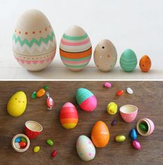 That's Happy: wooden eggs. I know it's out of season but I love this blog and have been looking back at old posts.