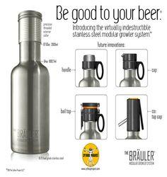 The Brauler: a high-tech, stainless steel growler