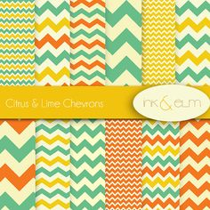 chevrons digital paper  chevron scrapbook paper by InkAndElm, $4.95