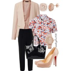 Business Not So Casual by aataylor936 on Polyvore featuring polyvore, fashion, style, Glamorous, Givenchy, Christian Louboutin, Tory Burch and ALDO