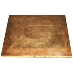 Coffee Table Etched Brass by Romain at 1stdibs