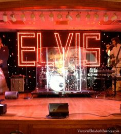 Stage set at the Philadelphia Elvis Fest. ! Elvis impersonation contest!! The best Elvis goes to Memphis to compete for the title of Ultimate Elvis Tribute Artist!