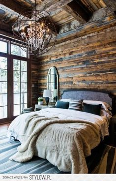 I so want to be here ! #cabin #romote #rustic #cabinideas #chalet #Mountainhome #cozy #rustichome #cabinideas #chaletmaster #cabinmaster, #bedroom