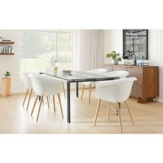 Rand Dining Tables - Rand Tables in Natural Steel - New - Tables - Dining - Room & Board