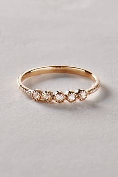 Rosecut Diamond Ring in 14k Gold - anthropologie.com