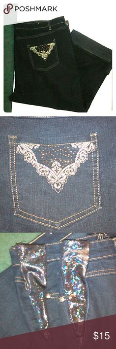 Jeanbay woman's plus 22W Capri cuffed jeans Jeanbay woman's plus 22W Capri cuffed jeans Jeanbay Jeans Ankle & Cropped