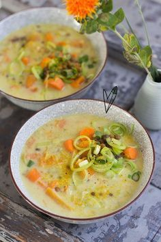 404 - The Green Happiness I Want Food, Feel Good Food, Soup Recipes, Vegetarian Recipes, Healthy Recipes, Thermomix Soup, Eat Thai, Coconut Soup, Healty Dinner