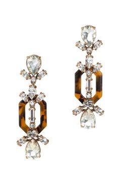 Crystal and tortoise earrings.