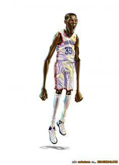 Caricatura de Kevin Durant.
