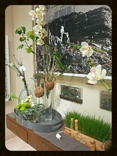 Orchid floral installation