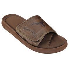 Adult Texas Longhorns Memory Foam Slide Sandals, Men's, Size: Medium, Brown