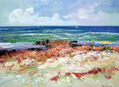 Carlos Giner - Spanish impressionist Impressionist Artists, Spanish, It Cast, Sea, Mountains, Nature, Travel, Painting, Impressionism