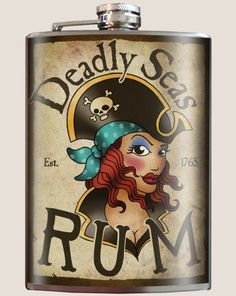 Deadly Seas Rum Hip Flask - 8oz Stainless Steel By Trixie & Milo Trixie & Milo http://www.amazon.com/dp/B00DHSP4CG/ref=cm_sw_r_pi_dp_sU94ub00522C4