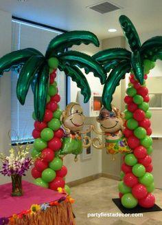 102 Best Hawaii Balloon Decor Images Balloon Decorations