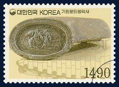 Definitive Postage Stamp, The roof-end tile of the kylin design, Relic & National treasure, 2003 01 01, 보통우표, 2003년 1월 1일, 2302,  기린문타원막새, postage 우표