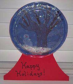 Plate snowglobe craft