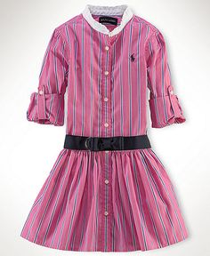 Shirt dress with drop waist. Can usea men's shirt