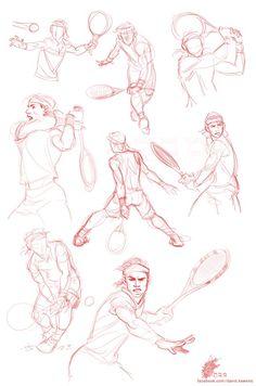 beautiful sketch by David Kawena (based on Rafael Nadal)