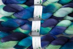 This is my Aquamarine colorway in Polwarth wool