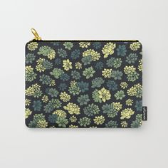 Succulents Pattern Carry-All Pouch #faerieshop #design #succulents #plant #green #nature #drawing #art #illustration #flower #floral #blossom #water #lily #lotus #pattern #ornament #shopping #accessories #society6 #bag