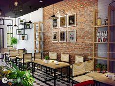 Trang trí quán cafe đẹp hiện đại