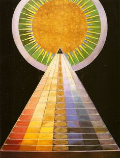"""Paintings by Hilma af Klint """" Five years before Wassily Kandinsky (he of the book Concerning the Spiritual In Art, before Piet Mondrian and Kazimir Malevich, before the images of. Wassily Kandinsky, Piet Mondrian, Klimt, Sophie Taeuber Arp, Hilma Af Klint, Robert Rauschenberg, Henri Matisse, Color Theory, Sacred Geometry"""