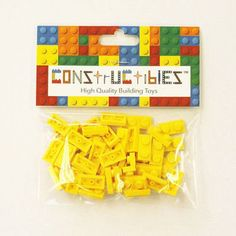 Constructibles x50 Yellow 1x2 Plates 3023  LEGO Bulk Parts -- Want to know more, click on the image.
