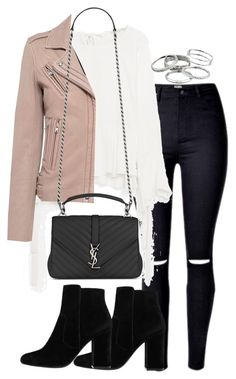 """Untitled #2919"" by theeuropeancloset ❤ liked on Polyvore featuring IRO, Yves Saint Laurent, MANGO and Kendra Scott"