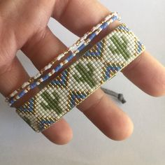 Your place to buy and sell all things handmade Loom Bracelet Patterns, Bead Loom Patterns, Beaded Jewelry Patterns, Beading Patterns, Beaded Braclets, Bead Loom Bracelets, Bracelet Crafts, Bead Loom Designs, Loom Bands