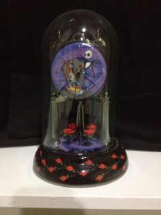 RARE Nightmare Before Christmas porcelain anniversary mantle clock