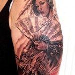 japanese geisha tattoo design