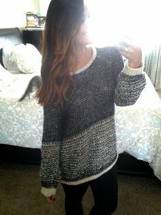 Fall sweater. Slouchy oversized Sweater.