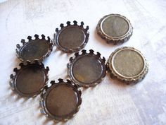 100 Bulk Antiqued Brass Base Flat Back (inner size by yooounique on Etsy Handmade Necklaces, Handmade Gifts, Cameo Pendant, Antique Brass, Tray, Base, Flats, Antiques, Unique Jewelry