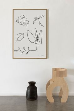 How to style line drawings in your interior, featuring the 'Summer Garden' print by Amanda Shadforth.