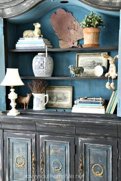 Savvy Southern Style: The Old Hutch Reveal in a New Space