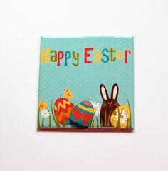 Easter Magnet, Easter Egg Magnet, Easter Bunny, Magnet, Fridge magnet, Easter Eggs, Easter magnet, Easter basket gift, Easter gift (7394) by KellysMagnets on Etsy