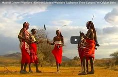 Maasai Warriors from the Laikipia region in Kenya have exchanged their spears for cricket bats and they are using cricket as a vehicle to empower youth and to target social problems in order to bri...