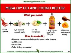 Flu buster all natural instead of putting crap into your body!